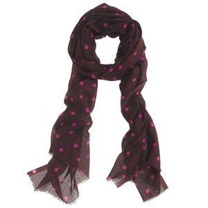 J. Crew polka dot scarf